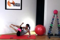 Free abs workout - pilates ball abs - weighted abs with ball barlates Pilates Abs, Pilates Training, Pilates Workout, Barre Workouts, Pilates Video, Dumbbell Workout, Abs Workout Video, Abs Workout Routines, Ab Workout At Home