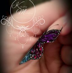 How To Sculpt An Acrylic Butterfly Nail YouTube Tutorial | Naio Nails https://www.youtube.com/watch?v=TF2712uBv2w