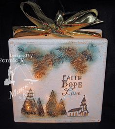 stamping in the light altered glass block christmas in july blog hop