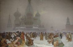 The Slav Epic #19:  The Abolition of Serfdom in Russia by Alphonse Mucha