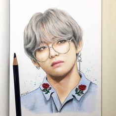 Collection Of Free Taehyung Drawing Mask Hand Picked Tips How To Draw Bts V Taehyung Fanart, Bts Taehyung, Jhope, Jimin, Bts Anime, Kpop Drawings, Pencil Drawings, Polychromos, Artist Profile