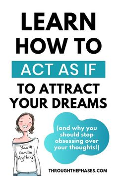 How to act As If to Manifest Anything with the Law of Attraction  It's not just the power of positive thinking that results in LOA success, but what you do makes a HUGE difference too (maybe even more so).   Learn how to act as if to manifest your dream life with the law of attraction. This post includes different tips and exercises that will have you acting as if and manifesting successfully in no time  Law of Attraction Tips. Manifesting Techniques. #lawofattraction #LOA #manifesting Manifestation Law Of Attraction, Law Of Attraction Affirmations, Secret Law Of Attraction, Law Of Attraction Quotes, Manifesting Money, How To Manifest, Positive Affirmations, Wealth Affirmations, Quotes Positive