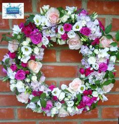 Garden themed wreath for a loved neighbour
