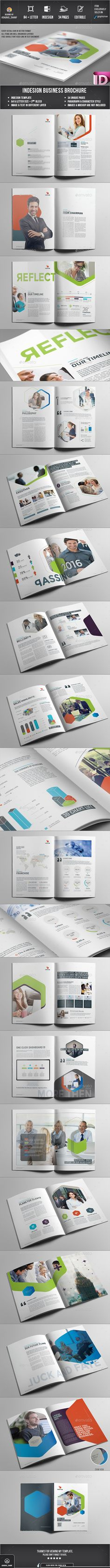 Brochure - Corporate Brochures Easy Customization and Editable A4 and US Letter Size with 3mm bleed 34 pages Paragraph Style, Character style included Images, text, Objects are Different Layers Design in 300 DPI Resolution Indesign files Auto numbering option working file adobe cc Adobe Indesign CC,CS6,CS5,CS4 or latter software version supported