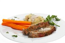 Homestyle Meatloaf with Spinach-Garlic Mashed Potatoes Recipe