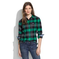 Penfield® Chatham Buffalo Plaid Flannel Shirt Finally—a menswear-inspired camp shirt made for women
