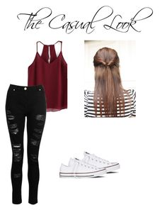 """The Casual Look"" by brooklyn-r-416 ❤ liked on Polyvore featuring Converse"