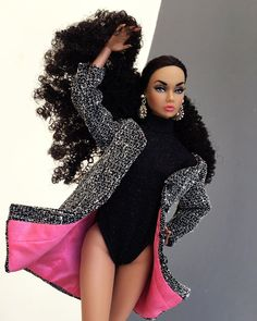 Beautiful Barbie Dolls, Pretty Dolls, Doll Clothes Barbie, Barbie Outfits, Custom Barbie, Barbie Fashionista Dolls, Glamour Dolls, Black Barbie, Barbie Collection