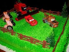Another idea with Frank and the tractors. I'd want yellow grass I think.