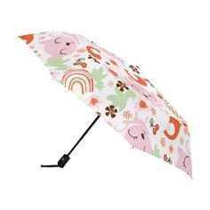 King Ma Childrens Cute Cartoon Pattern Students Foldable Umbrella