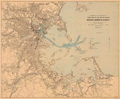 Historical Chart of Boston Harbor and the by HyannisMarina on Etsy