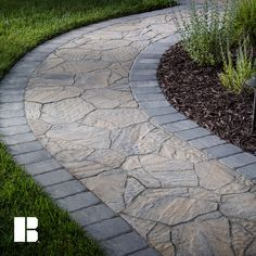 Add a contrasting border to your walkway to add visual interest. Add a contrasting border to your walkway to add visual interest.