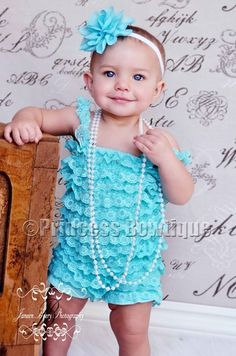 Turquoise Petti Lace Baby Infant Romper: Buy Baby Headbands & Hair Bows at Princess Bowtique Baby Romper Pattern, Baby Girl Romper, Petti Romper, Lace Romper, Baby Hair Bows, Baby Headbands, Baby Boutique Clothing, Boutique Shirts, Girls Rompers