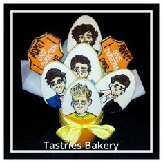 One Direction Cookie Bouquet from @Tastries Bakery