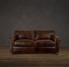 "72"" Lancaster Leather Sofa"