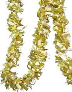 Curly Gold and White Tinsel Garland 3691497 *** Find out more about the great product at the image link.