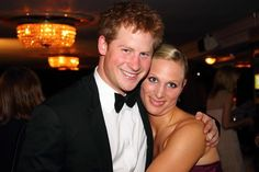 Cousins. Zara Phillips and Prince Harry.