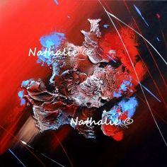 concerto  tableau abstrait moderne acrylique sur toile Nathalie-robert-peinture