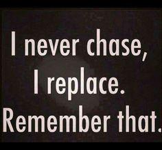Not chasin...