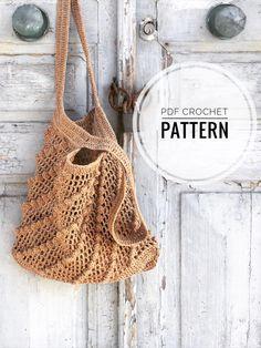Diy Crochet Bag, Crochet Market Bag, Crochet Purses, Bag Pattern Free, Tote Pattern, Crochet Hook Sizes, Crochet Hooks, Granny Square Bag, Summer Tote Bags