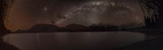 Under a darklit sky 'Lake Camp' Panorama - Often in the pursuit of a photography it is simply right time right place whilst this was not quite right time the place was special. After chasing a gap in the oncoming gales we headed into the Ashburton Lakes every hopeful the predicted clouds would hold off long enough for us to capture the Milky Way. Setting up at Lake Camp by the time I was ready to start the clouds were rolling over the Alps and all chance of a night out were dashed, still…