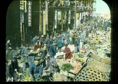 1900 Magic Lantern Glass Slide Philippines Manila Market Color Alfred Moore | eBay