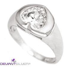 """Gli anelli romantici con cuore zircone bianco, gioielli in Argento 925/1000 dal design particolare: l'anello """"I LOVE FOREVER"""" è un gioiello caratterizzato dal cuore centrale con luminoso zircone bianco; argento di finitura lucida.     http://www.deviantsilver.com/love-forever-anello-argento-925-gioiello-cuore-zircone-bianco-p-264.html"""