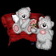 Tatty teddy in zetel