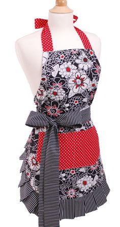 Features:  -Women's apron.  -Material: 100% Soft cotton.  -Quality 2-ply…