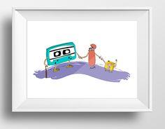 """""""Amigos de la Nueva Era"""" #illustration #ilustración #art #arte #diseño #design #digital #collage #cassette #ipod #friends #amigos #vector Check out new work on my @Behance portfolio: """"Amigos de la nueva era"""" http://on.be.net/1iw3Pdz"""