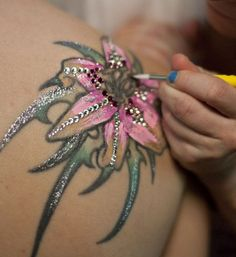 such a cool idea when you don't want to or can't cover a tattoo on your wedding day