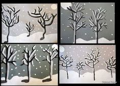 PAINTED PAPER: Goya's Winter Trees - A Value Study
