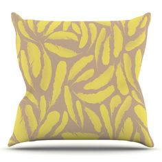 East Urban Home Feather by Skye Zambrana Outdoor Throw Pillow