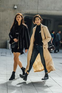 On the street at Seoul Fashion Week. Photo: Emily Malan/Fashionista