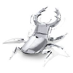 The Metal Earth Stag Beetle models are amazingly detailed etched models that are fun and satisfying to assemble. Each model is made from a pair of completely flat laser-etched steel sheets. Metal Earth Models, Metal Models, Earth 3d, Metal Model Kits, Metal Puzzles, Unique Toys, 3d Laser, Inspired Homes, Diy Kits