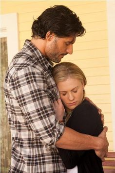 Alcide and Sookie; True Blood.
