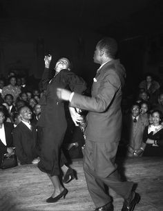 Dancing at a nightclub on Central Avenue, Los Angeles, 1938