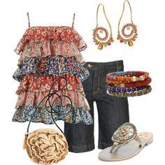 Bermudas by outfits-de-moda2, via Polyvore