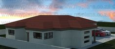 3 Bedroom House Plans – My Building Plans South Africa My Building, Building Plans, Home Design Plans, Plan Design, House Plans South Africa, Family House Plans, Floor Layout, Double Garage, Bedroom House Plans
