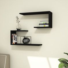 Add depth and versatility to any wall in the home with this Anvi Modern Wall Shelf. The simple design can be configured numerous ways and allows you to bring out your inner interior designer to give the perfect customized look in the home. Decor, Modern Wall Shelf, Shelves, Interior, Wall Shelves Design, Bookshelf Design, Home Decor, Corner Shelves, Living Room Tv Wall