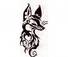 Tribal tricky fox tattoo wallpaper