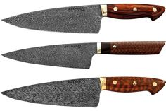 Bob Kramer Knives. I want one of these Damascus steel folded over 500 times one of a kind knives done by the master blade smith. But it's only by lottery and at least 2500.00 for one knife. Crazy I know. I can still dream.
