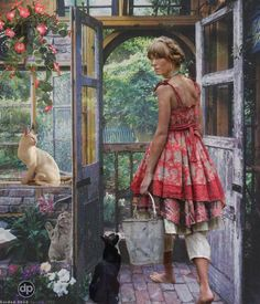 """A Gardener's Work is never Done!... - Donna  Pfister @Bazaart....made for me by my dear """"pin-pal"""" Donna Thank you xx"""