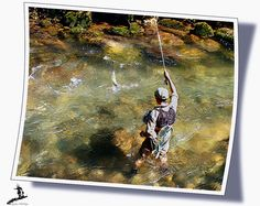 fishing with the nymph in the French Pyrenees Vicdessos