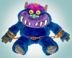 My Pet Monster!   I had one of these as a kid... okay, it was my little brother's.  But I claimed him as my own and just as quickly, crammed Tickles & Gigglet (Huggabunch, for those not paying attention) into the toybox, never to be seen again.