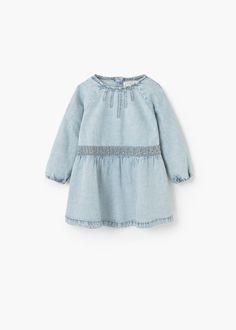 Geborduurde denim jurk -  Kinderen | MANGO Kids Nederland