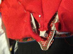 Kjoleliv Red Leather, Leather Jacket, Folklore, Damask, Vest, Embroidery, Norway, Jackets, Dresses