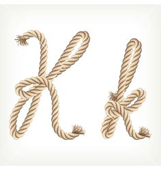Rope alphabet Letter K on VectorStock