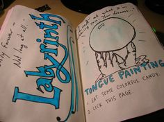Wreck This Journal - The Tongue Painting page. ~Leslie D. Soule