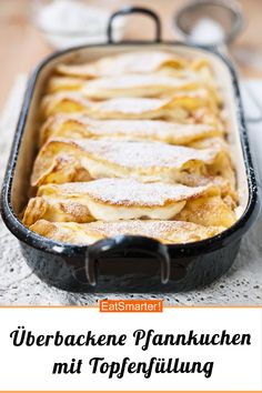 Baked pancakes with curd cheese filling eatsmarter.de / … Baked pancakes with curd cheese filling eatsmarter. Beef Recipe Baked, Baked Shrimp Recipes, Beef Recipes, Baking Recipes, Chicken Recipes, Easy Desserts, Dessert Recipes, Queijo Cottage, Cottage Cheese Pancakes